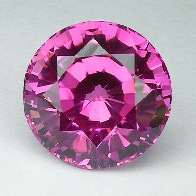 7.23ct. AWESOME VIVID PINK SAPPHIRE ROUND LOOSE GEMSTONE