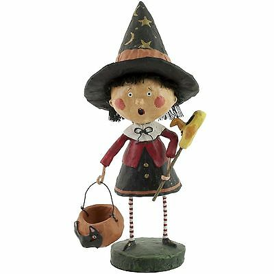 Lori Mitchell Trixie the Witch Trick or Treat Halloween Figurine Folk Art
