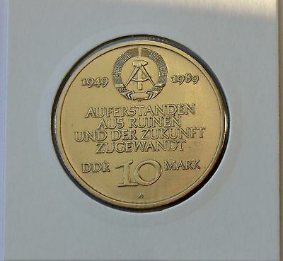 East Germany 10 mark 1989, 40 years of DDR 1949 -1989, Commemorative coin