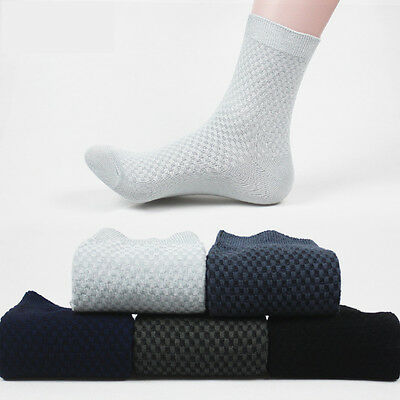 5/10 pairs Fashion Men Bamboo Fible Dress Solid Casual Sports Soft Comfort Socks