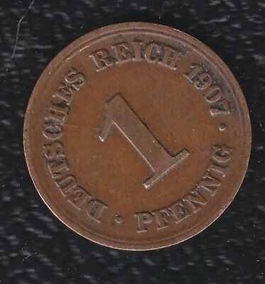 Germany 1 Pfennig 1907 D