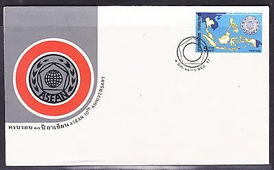 Thailand 1977 ASEAN 10th Anniversary First Day Cover - Unaddressed