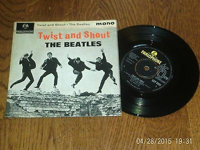 """The Beatles - Twist And Shout - Parlophone 7"""" vinyl  EP- 1963"""