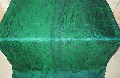 Pure silk Antique Vintage Sari Saree Fabric REUSE 4y 16dgi 6d05 Green #ABCPP