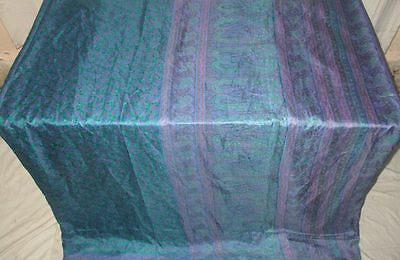 Pure silk Antique Vintage Sari Saree Fabric REUSE 4y 16dgi 6d05 Magenta #ABCPS