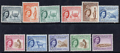 Somaliland Protectorate 128-35,7-9 MH Animals, Camel, Bird, Sheep