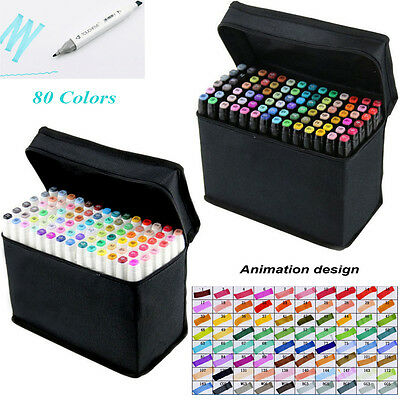 80PCS/Lots Twin Tip Sketch Copic Markers Set Sketch Marker For Animation Design