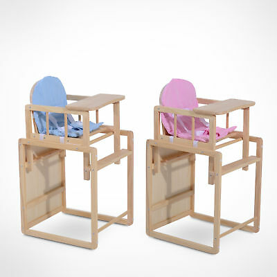 Baby Toddle Dinning Feeding Highchair Multi-function Wooden Seat