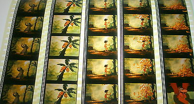 Disney's - The Jungle Book -  Rare Unmounted 35mm Film Cells - 5 Strips