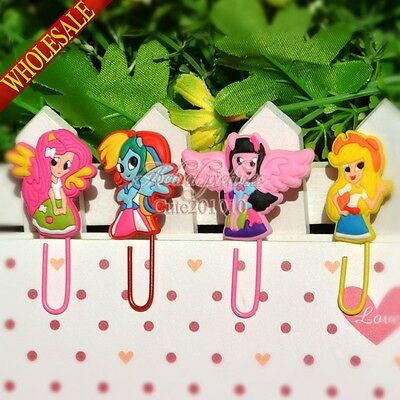 24pcs My Little Pony Cartoon Bookmark,Paper clip,School Supply stationeries gift