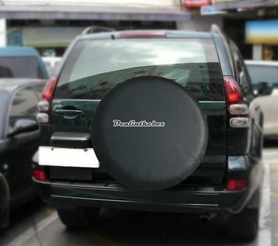 "SPARE TYRE COVER WHEEL COVER TYRE BAG FOR ANY CAR VAN SIZE 29"" 30"" 31"" Black"