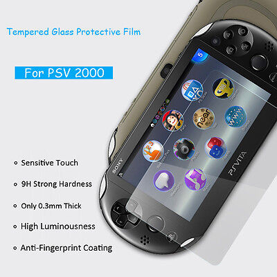 1x 2x Lot 0.3mm Tempered Glass Film Screen Protector for Sony PS Vita PSV 2000