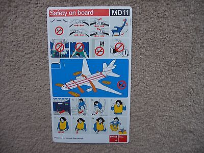 Swiss MD11 Airline Safety Card