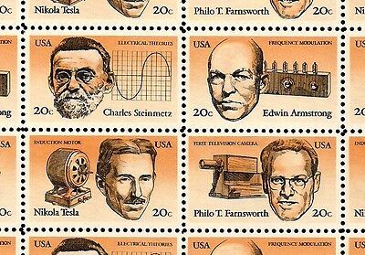 1983 - INVENTORS - #2055-58 Full Mint -MNH- Sheet of 50 Postage Stamps