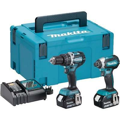 Makita 18v Twin Pack DLX2180TJ Brushless DHP484 and DTD153 2x 5.0Ah Batteries