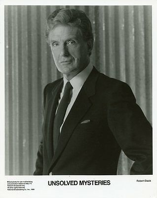 Robert Stack Portrait Unsolved Mysteries Original 1989 Nbc Tv Photo