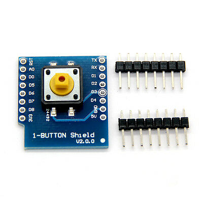Button Shield for WeMos D1 Mini Button With 4pcs Normal Pins 3.3V Compliant XRAU