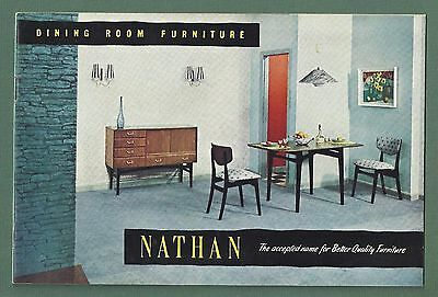 Excellent Jan 1957 Illustrated Catalogue For Nathan Furniture + Price List