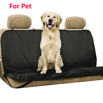 Waterproof Rear Seat pet dog Protector Oxford Black Cover For car Base/Back Seat