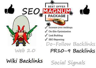 MAGNUM SEO WITH Wiki Links, High PR , WEB 2 0 High PA DA etc, plus 30 days  Ping