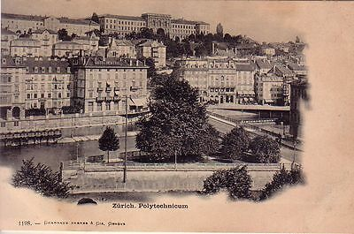 Switzerland - Pre-1906 Zurich - Polytechnicum unused postcard