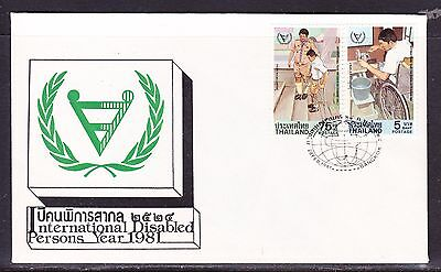 Thailand 1981 Year of the Disabled First Day Cover - Unaddressed