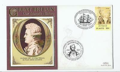 f126 Thematics People / Nelson / 4 x fdcs St Kitts Unused
