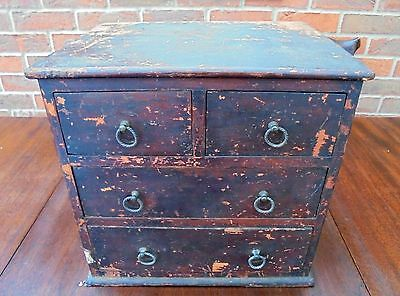 Miniature Victorian Painted Chest of Drawers - Original