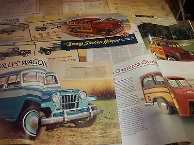 Early Willys Wagons/Trucks Magazine/Literature lot of 26 items (B)