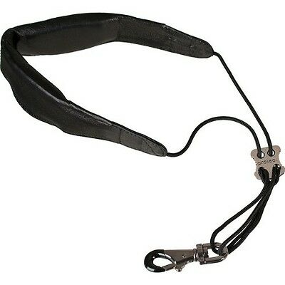 """ProTec Pro Tec L305M 24-Inch Leather """"Less-Stress"""" Saxophone Neck Strap with"""