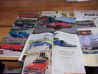 1969 Plymouth Satellite/Road Runner Magazine/ Literature lot of 16 items