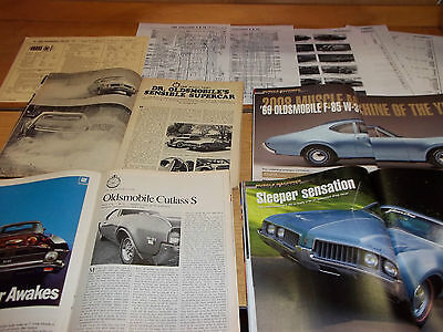 1969 Oldsmobile W-31 442 Magazine/Literature lot of 7 items