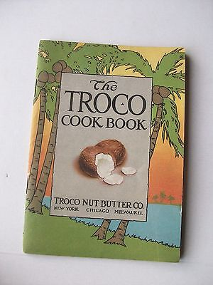 1918 Vintage Advertising ~ The Troco Coconut Nut Butter Cook Book ~ Illustrated