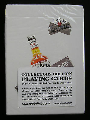 Jim Beam Music Collectors Edition Playing Cards New And Sealed From 2006 X2