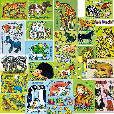 Window picture+Postcard in one. ANIMALS AND DINOS from LUTZ MAUDER MEGA