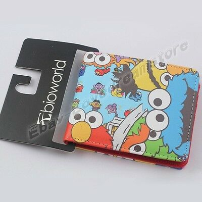 Cartoon Sesame Street PU Synthetic Leather Short Purse Wallet Loose