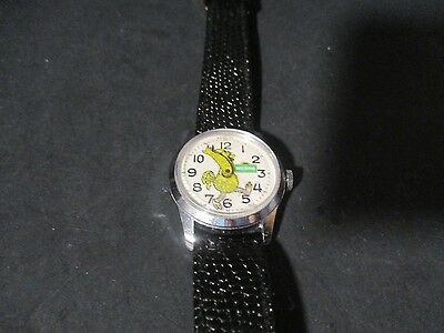 BIG BIRD  Comic Character Watch Leather Band Swiss Made R183 PZ