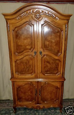 THOMASVILLE PECAN ARMOIRE Gentlemans Chest, French Court Provincial Style #17811