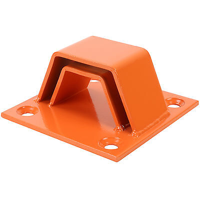 Orange Two Layer Bolt Down Ground/wall Anchor In/out Door Security Bike Lock