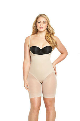 Miraclesuit Sexy Sheer WYOB Long Leg Body In Nude Size 12