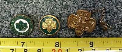 1950S/60S Girl Scouts America Vintage Bronze Pin Lot (3) Must See