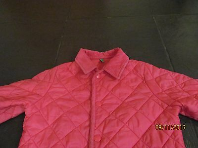 Girls Benetton Quilted Style Coat Age 7-8 M 130cm