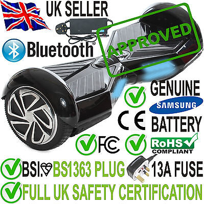 REBOXED SMART SELF BALANCING HOVER BOARD SPORTS EDITION w/ BLUETOOTH & LED Black