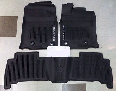 Oem All Weather Mats Liners 2013 2014 2015 2016 2017 Toyota 4Runner