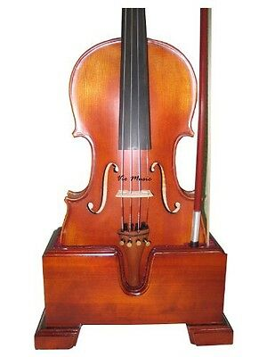 Vio Music Violin and Bow Wooden Holder (Stand), Plush Velvet, Safe and
