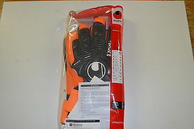 Uhlsport Ergonomic Apsolutgrip HN Art. 100054501 Torwarthandschuhe black-orange