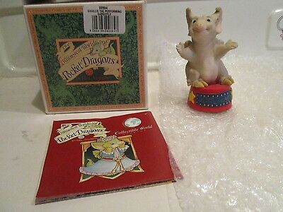 Pocket Dragon Giggles The Performing Gargoyle 1998 Signed By Real 04/02 Boxed