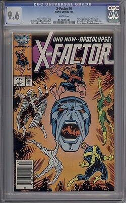 X-Factor #6 - CGC Graded 9.6 - 1st Full Appearance Of Apocalypse