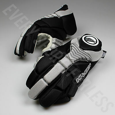 NEW Maverik Lacrosse Charger Youth Lax Gloves - Black and Grey