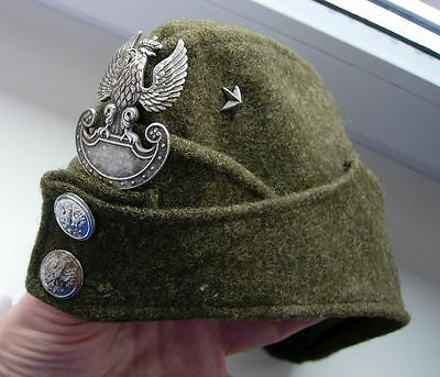 Polish Poland Officer's Wwii Side Cap Hat